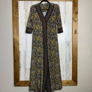 Soft Surroundings womens maxi dress ¾ sleeves